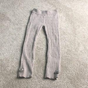 H&M Knit Leggings in Taupe 4-5Y